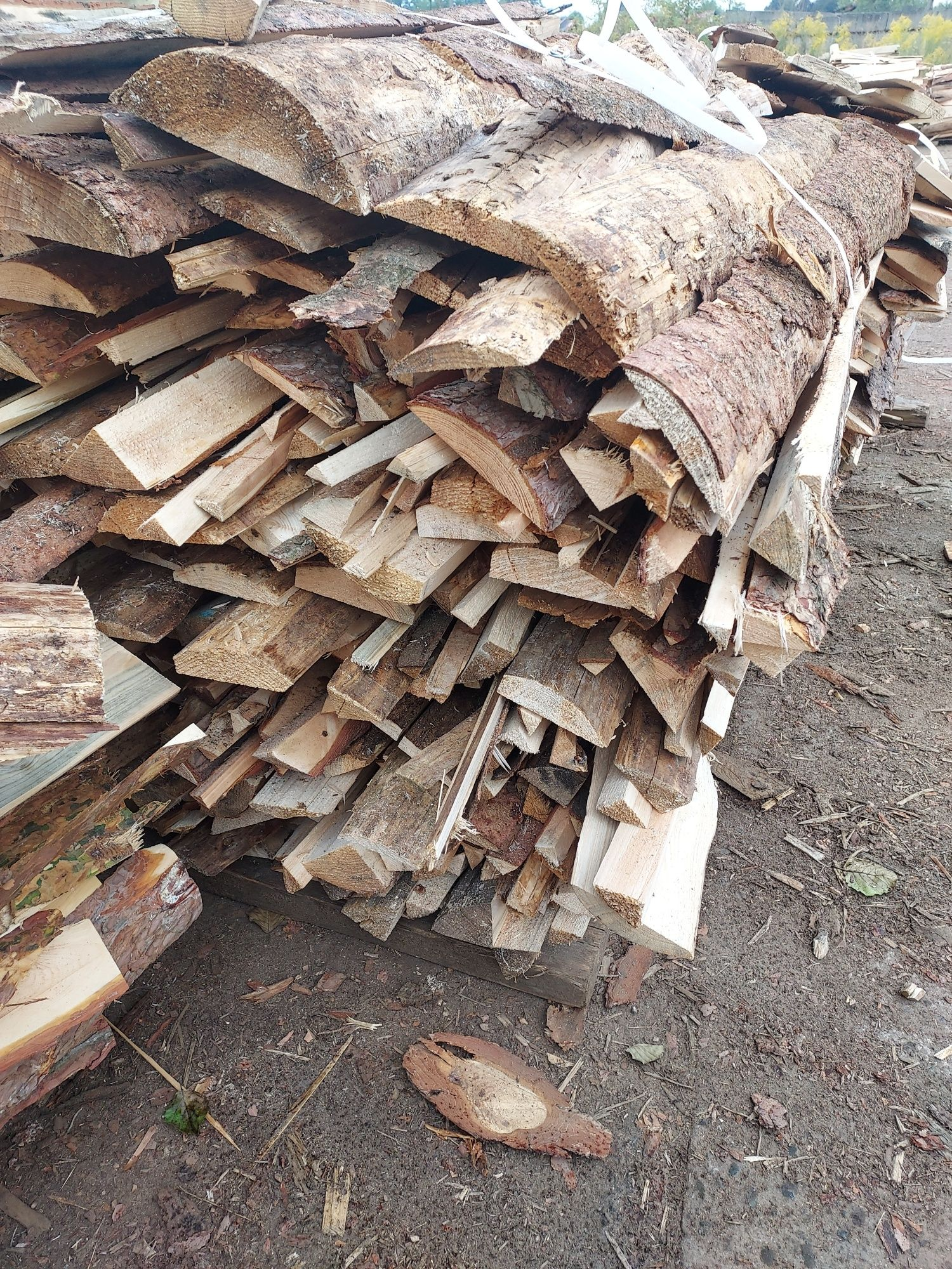 Drewno opałowe zrzyny klocki + transport