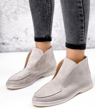 Женские ботинки лоферы Loro Piana демисезонные