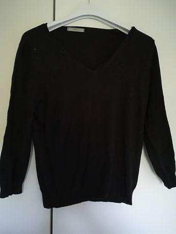 Czarny klasyczny sweter, r. M, wiskoza