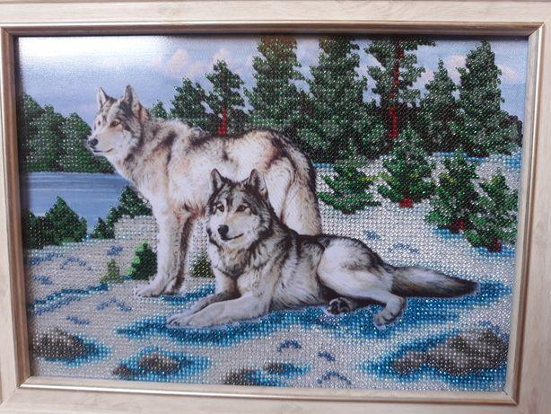 Продам картину из бисера ручной работы