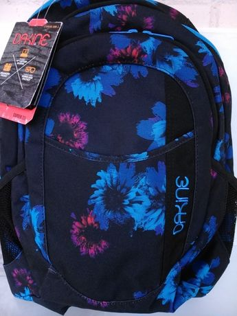 Новый рюкзак Dakine Garden Черный с синим Blue Flowers 20l Дакайн