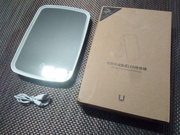 Косметическое зеркало Xiaomi с подсветкой для макияжа