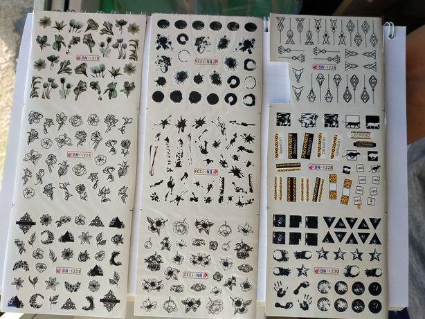 Наклейки, дизайн маникюра