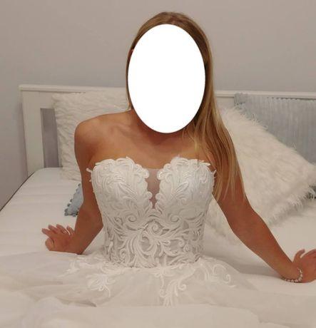 Suknia ślubna, śmietankowa, 36, literka A