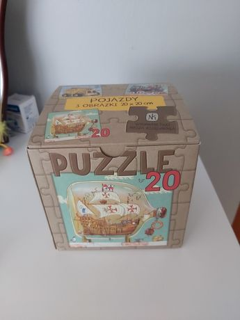 Puzzle 3w1 Nasza Ksiegarnia pojazdy 3 obrazki