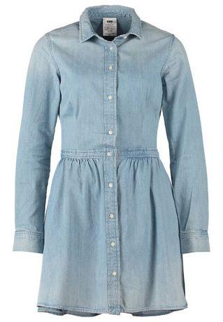 LEVIS levi's niebieska sukienka koszula dzinsowa jeansowa 34 XS 36 S