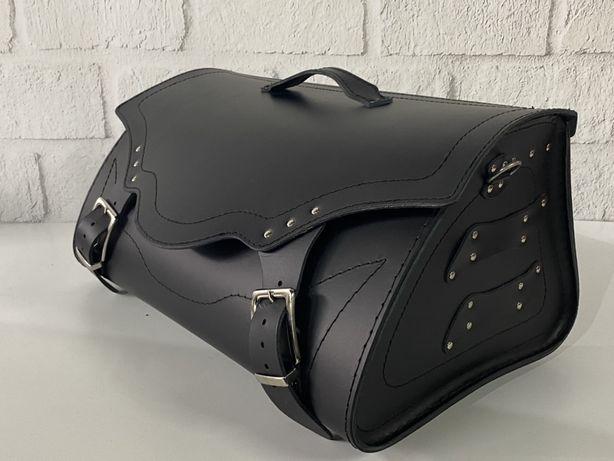 Kufer skórzany motocyklowy
