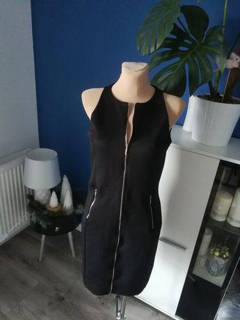 R. L MOHITO klasyczna mała czarna sukienka z suwakami