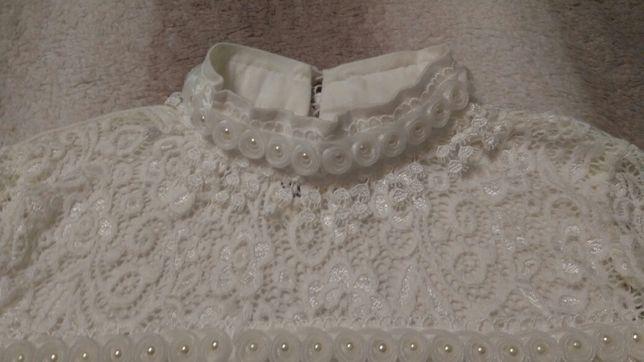 Блуза школьная нарядная,7-10 лет