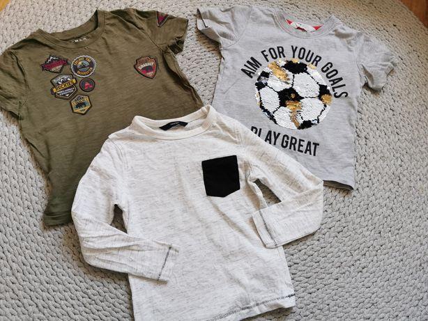 T-shirt 2 3 lata 98 chłopiec zestaw bluzka koszulka