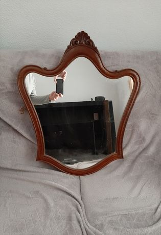 Espelho em madeira vintage