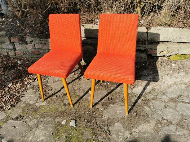 Krzesła PRL 2 szt Vintage styl skandynawski