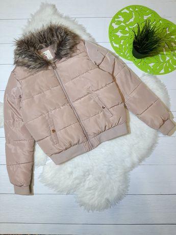 Теплый бомбер курточка на девочку