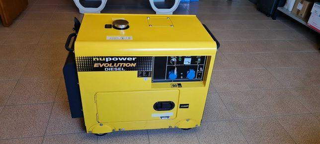 Gerador insonorizado a diesel, com 5.5 KW