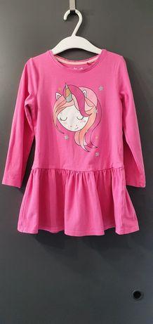 Sukienka 5 10 15 rozm 110 jednorożec, ponny