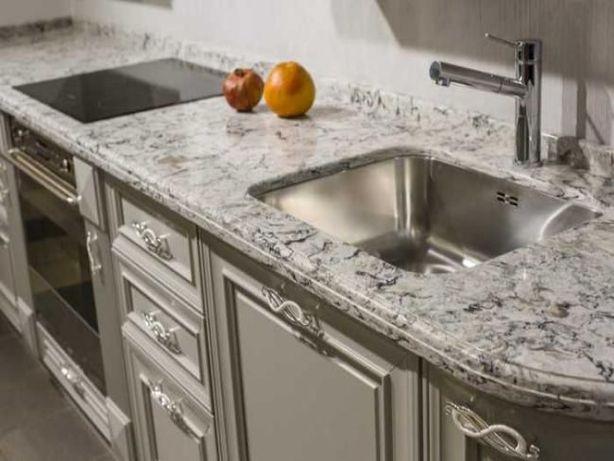 Стільниці для кухні зі штучного та натурального каменю