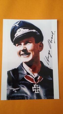 As Luftwaffe Hugo Broch autograf