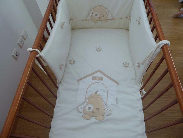Protetor de berço e colcha para cama de bebé PIM PAM PUM