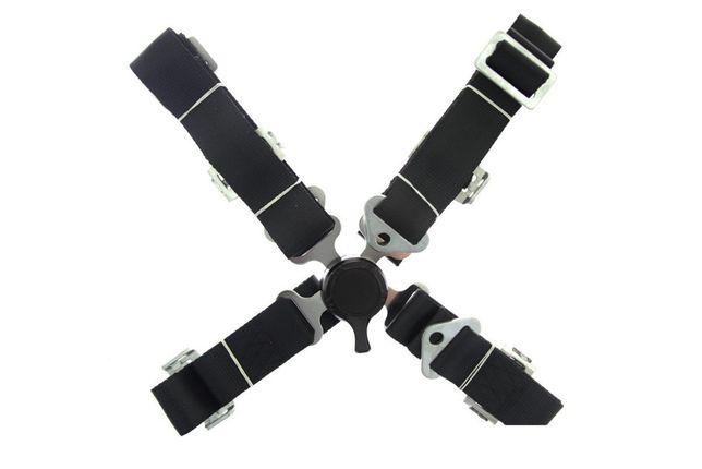 Ремни безопасности Четырехточечные - Black, Red