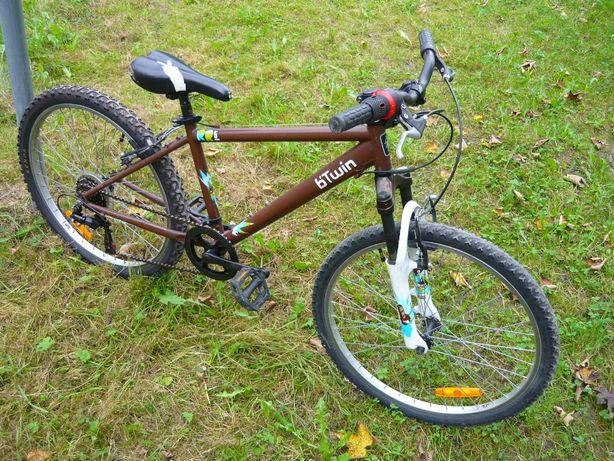 Rower B'twin Junior Koła 24cale 6-biegów Po przeglądzie