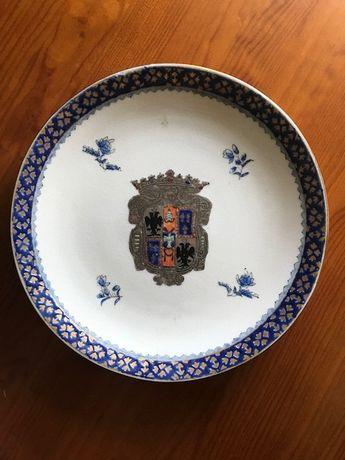 Prato Porcelana Chinesa Com Brasão