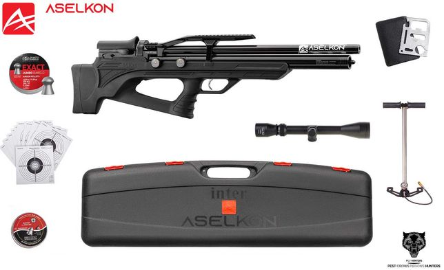 136 07 Wiatrówka PCP Aselkon MX10S kal.5.5mm ZESTAW!