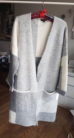 sweter top secret r. 34/36 S M blezer nowy szary kardigan massimo tova