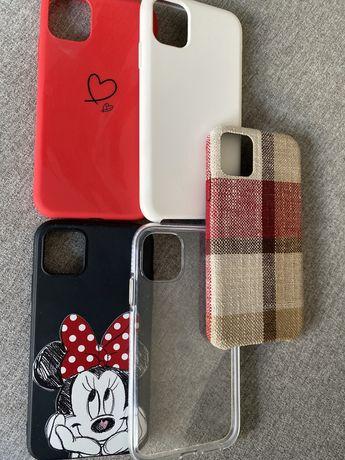 3 case etui iphone 11 silikonowe czerwone czarne biale mickey mouse