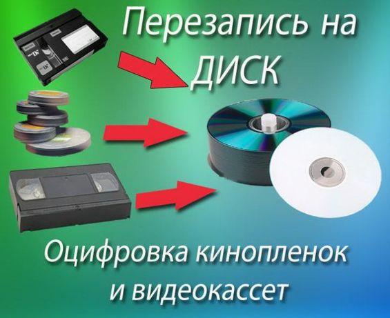 Оцифровка любых видео и фотоматериалов качественно на dvd
