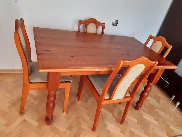 Stół z litego drewna - solidny, używany