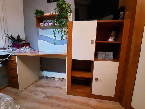 Komplet mebli dziecięce młodzieżowe łóżko komody biurko szafa narożna