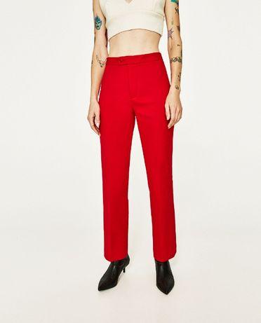 Zara Woman spodnie cygaretki czerwone M