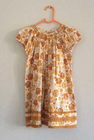 Next sukienka 116 stan idealny musztardowa na jesień
