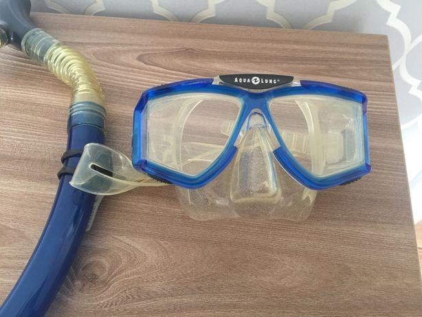 Okularki do nurkowania z rurką zestaw US Divers