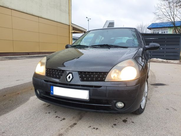 Renault Clio 2 DCi 1.5 82KM 2003 Klima PL Czarny 4l/100km Opony Zima