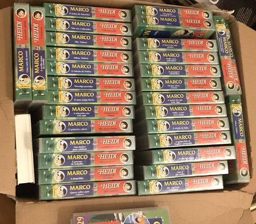 Coleção Março e Heidi fascículos e VHS
