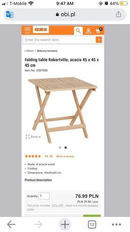 Stoliczek drewniany
