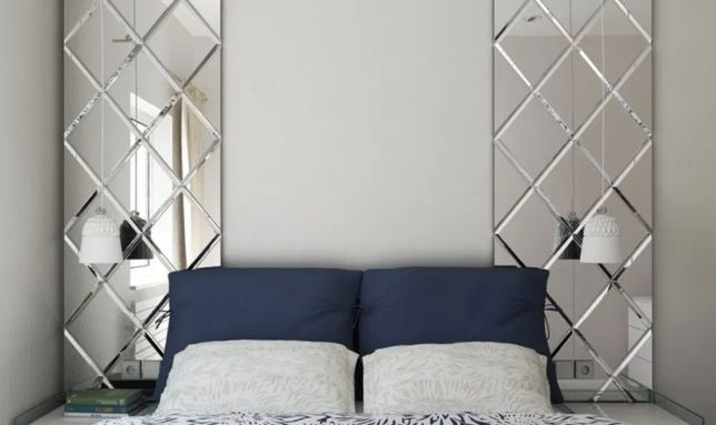 Lustro Fazowane, Lustra Fazowane 30x30cm do łazienki, pokoju dekoracji