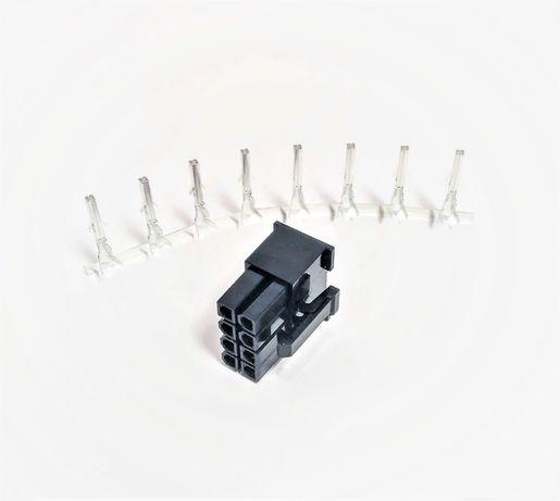 Коннектор PCI-E 8 pin пин (папа) ЦЕЛЬНЫЙ +контакты