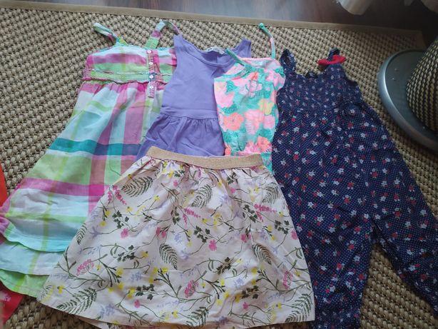 sprzedam zestaw letnich sukienek, 110/116 H&M