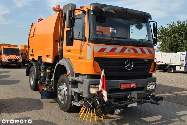 Mercedes-Benz Axor 1828 Zamiatarka  FAUN Odchwaszczarka 2 Silniki 3612 Mth Światła Ostrzegawcze Kamera