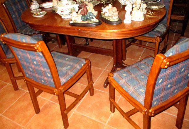 Mesa sala jantar com 6 cadeiras