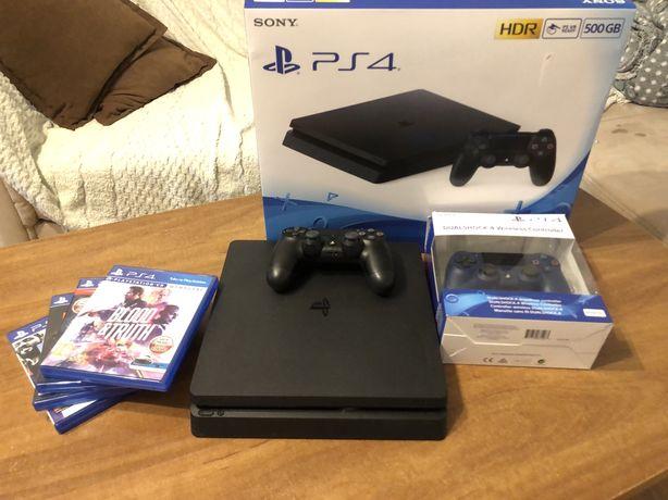 Sony Playstation 4 Slim + 2 pady STAN NOWY!