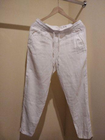 Białe letnie spodnie H&M rozm.36