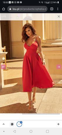 Sukienka lou ophelia czerwona S 36 zalozona raz