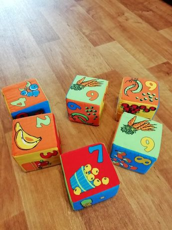 Кубики детские мягкие