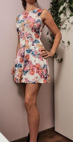 Śliczna sukienka w kwiaty rozmiar XS