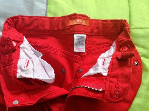 Calças de Sarja Vermelhas