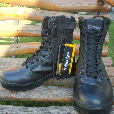 Берци Тактичні LEATHER/CORDURA BOOTS black Mil-Tec (40)