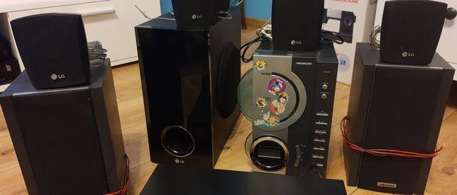 DVD LG + miniwieża+ nagłośnienie